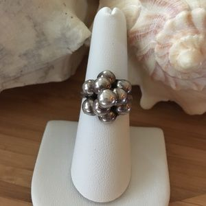 Vintage Sterling Silver Ball Ring MEXICO TAXCO 7
